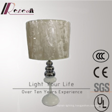 Hotel Decorative Chrome Table Lamp with Fabric Shade