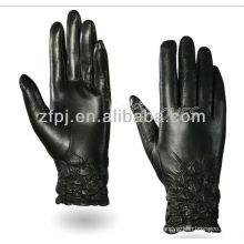 Manguito elástico estilo nuevo guante de cuero completo de la palma para la pantalla táctil