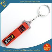 Gute Qualität Großverkauf-heiße Verkaufs-PVC-Schlüsselkette mit kundengebundenem Logo für Tätigkeit von China