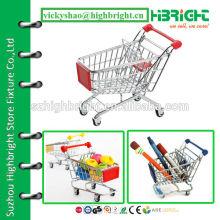 chromed children mini shopping cart with Logo