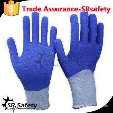 SRSAFETY 13 калибровочная синяя латексная стойкость латексная перчатка с уровнем 5 / перчатки из голубого латекса малайзийские перчатки