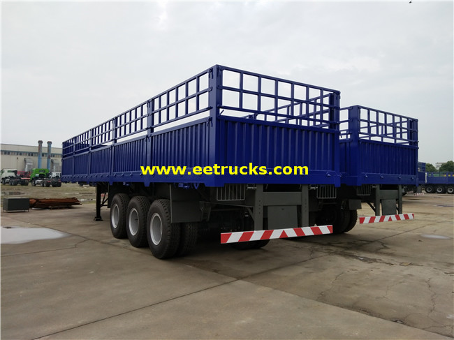 30ton Box Cargo Semi Trailers