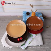 Дешевые пользовательские печать круглые керамические пластины / ужин пластины