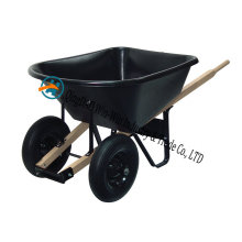 6 Cubic Foot Poly Wheelbarrow with Dual Wheels