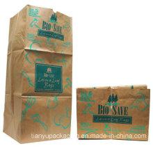 Bolsa de papel Kraft de basura de hojas