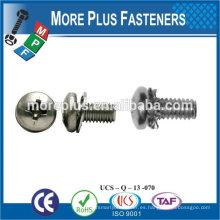 Taiwán Acero inoxidable Cobre Latón Aluminio Cuadrado Lavadora Hex Cabeza Sem Tornillo