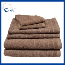 100% хлопок кофе Отель полотенца наборы (QHSD55940)