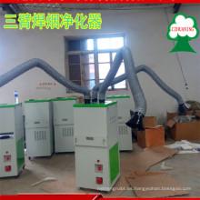 nuevo diseño ISO aprobó el colector de polvo del humo de la soldadura con los brazos de tres funciones