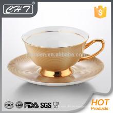 Porzellan unzerbrechliche dekorative Teetasse und Untertasse