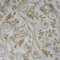 Tissu en tulle américain avec des paillettes d'or de luxe