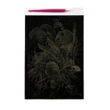 Arte de la lona impresiones artes de papel de oro y tarjetas de rascar