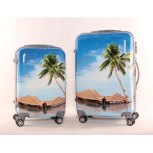 Landscape Pattern Suitcase Cute Pattern Draw Rod Box Cartoon Design Draw Rod Box Cartoon Design Draw Rod Box
