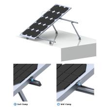 Flat Roof 100KW tilt adjustable solar mounting system