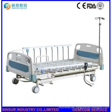 Electric 3crank Hospital Bed with Aluminum Alloy Guardrail