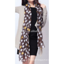 New fashion acrylic dots printed scarf