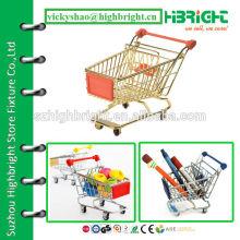 mini gift steel wire chromed shopping basket