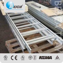 UL galvanizado do CE da escada do cabo da carga pesada do metal alistado