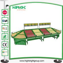 Support d'affichage de stockage de fruits et légumes de supermarché d'acier inoxydable