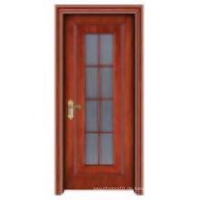 Stylish Galss Fenster Feste Holztür