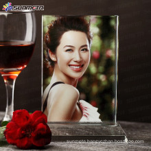 Sunmeta directly sublimation photo crystals souvenir gift, sublimation coated crystal