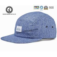 2016 Nylon Closure 5-Panel Camper Strapback Denim Blue Cap