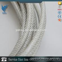 Alta qualidade 7 * 19 personalizado SUS316 plástico revestido de aço inoxidável cabo de aço