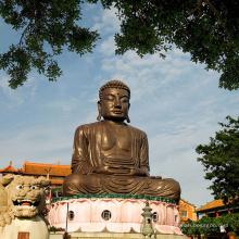 decoração ao ar livre feng shui bronze estátua de buda para viagens em Taiwan