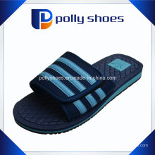 Sandálias da mula do chuveiro do Velcro do deslizador dos homens