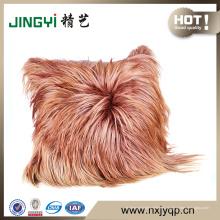 Moda y venta caliente piel de cabra cojín de piel