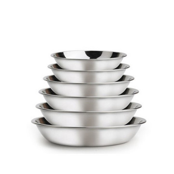ChaoZhou stainless steel food trays disc