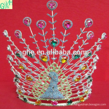 Silber Herrliche Kristall Braut Prom Tiaras