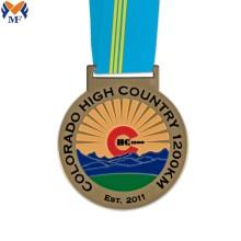 Meilleures médailles en métal de forme ronde personnalisée
