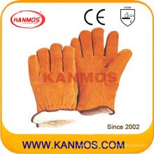 Yellow Cowhide Split Leather Industrial Hand Warm Зимняя рабочая перчатка (11302)