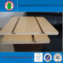 Chinese Suppliers Directly Sale Melamine Slotted MDF