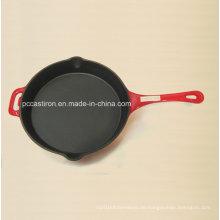 LFGB Ce Qualifizierte Gusseisen Frypan Preis China Factory Dia 26cm