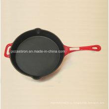 LFGB Ce Квалифицированная чугунная сковорода Цена Китай Завод Dia 26см