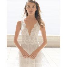 Fashion Shoulders Princess Tulle Bridal Wedding Dress