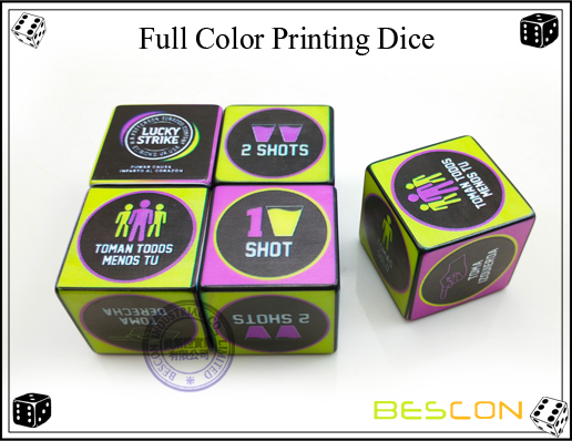 Full Color Printing Dice 30MM-4
