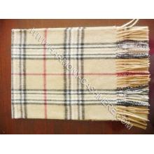 Écharpe à carreaux en laine cachemire (HM-SC09007)