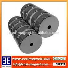 Ringform Neodymmagnet mit Loch für Verkauf / N35 starker Magnet für Unterlegscheibe
