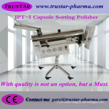 Capsule polisher and sorter machine with extra brush