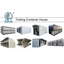 Casas dobradas prolongadas do recipiente da casa pré-fabricada