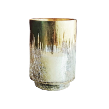 Hurricane Glass With Foil Gold