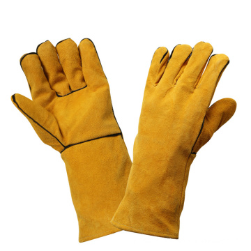 Cut Resistant Safety Leather Trabalho soldagem luvas de mão protetora
