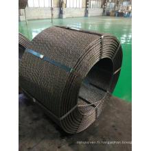 Fil d'acier en béton précontraint de 12,7 mm