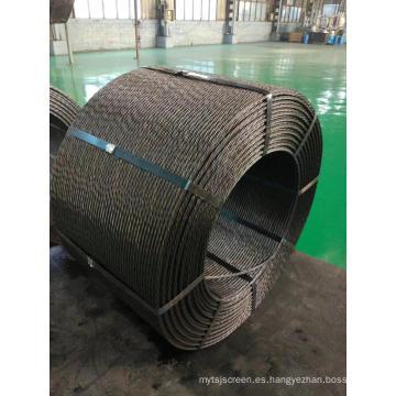 Cordón de acero de hormigón pretensado de 12,7 mm