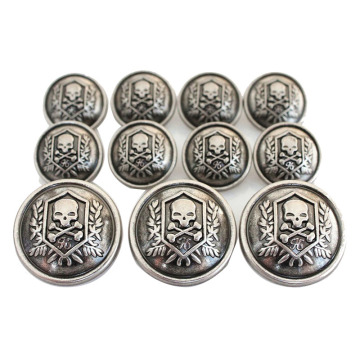 Złoty Vintage Metal Blazer Button Set For Blazer