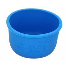 Funda protectora de botella de vidrio Funda de silicona para tarro de masón