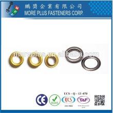 Taiwan Acier inoxydable 18-8 Acier chromé Acier nickelé Cuivre laiton DIN7339 Grommet et Eyelet