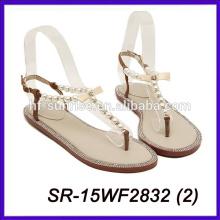 Sandalias planas con estilo para las sandalias de la mujer de la muchacha nuevas sandalias planas de los nuevos diseños del diseño